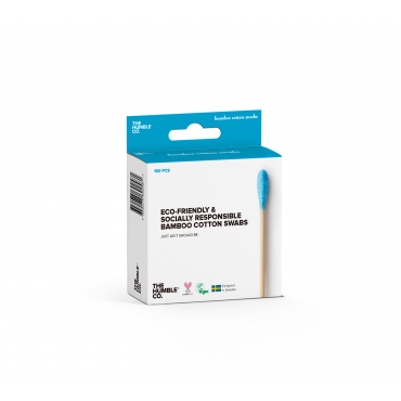 Bamboo Cotton Swabs - Blue